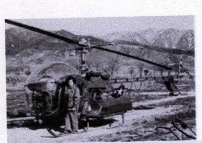 Helicopter transport while serving with 8063 MASH Unit