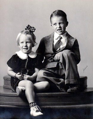 Ralph, age 8, with sister Patti, age 3