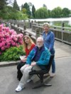With Lisa in the Rhododendron Garden in Portland 2004