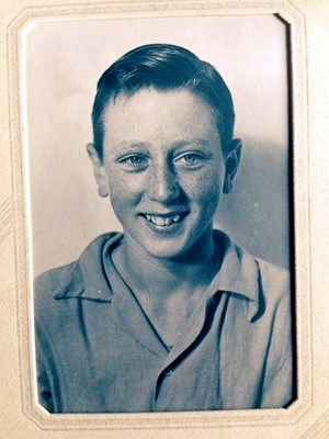 Dad as a boy - such a handsome young man.